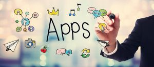 Businessman drawing APPS concept with Angular Framework